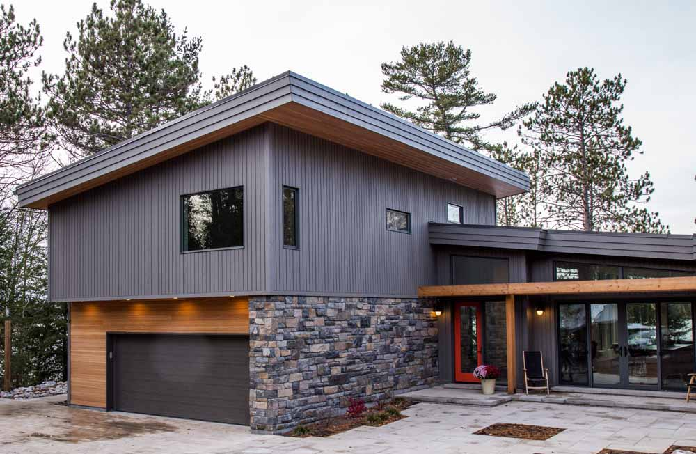 Site Built Home - Modern Style Home with Prefinished Timberthane Wood Siding